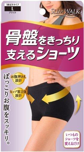 スリムウォーク 骨盤をきっちり支えるショーツ Lサイズ ブラック(SLIM WALK,shorts pelvic,L),骨盤ベルト,おすすめ,