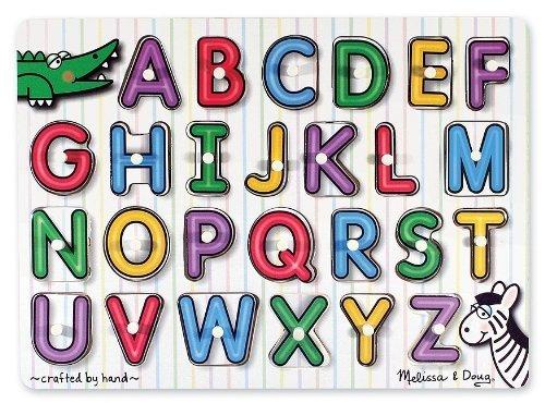 Melissa&Doug(メリッサ&ダグ)ペグパズル アルファベット2才~[MD3272],知育玩具,2歳,