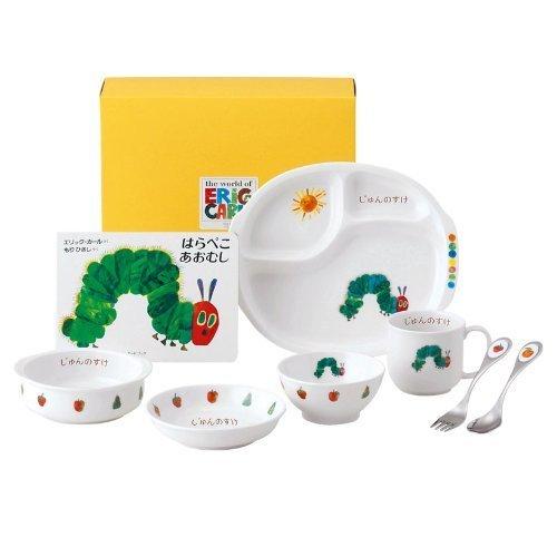 名入れ ニッコー 出産祝い 子供食器 はらぺこあおむし ぱくぱくセット (ランチ皿 ライスボール マグ 小鉢 スプーン フォーク 深皿),出産,祝い,食器