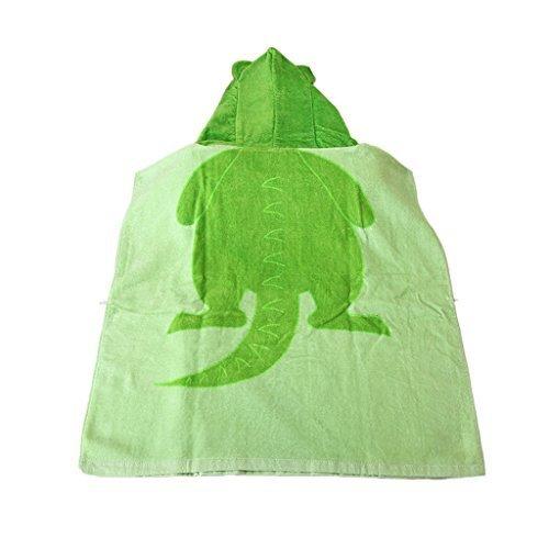 子供用 バスタオル 柔らかい かわいい 恐竜 GF-269 グリーン,バスローブ,子供,