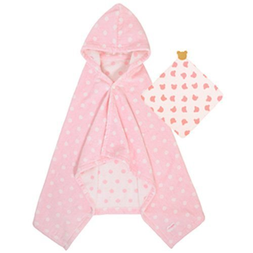 (ミキハウス)MIKIHOUSE バスポンチョセット ピンク 女の子 40-3808-674 ミキハウスファースト,バスローブ,子供,