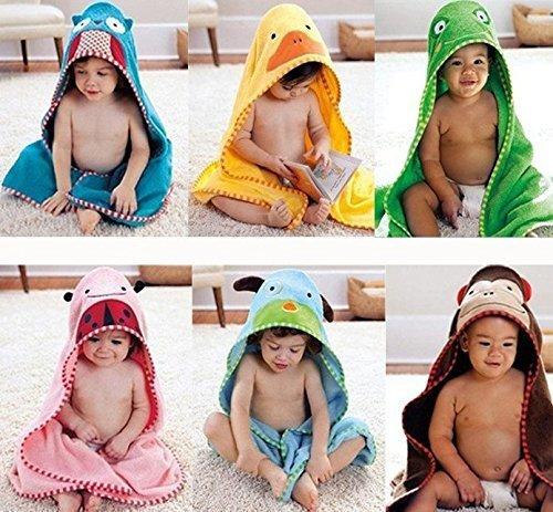 アニマル おくるみ 子供 タオル キッズ バス ローブ 動物 ポンチョ マント かわいい 記念 写真 出産 祝い プレゼント (アヒル),バスローブ,子供,