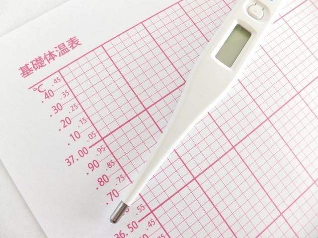 基礎体温計の写真,妊娠1ヶ月,
