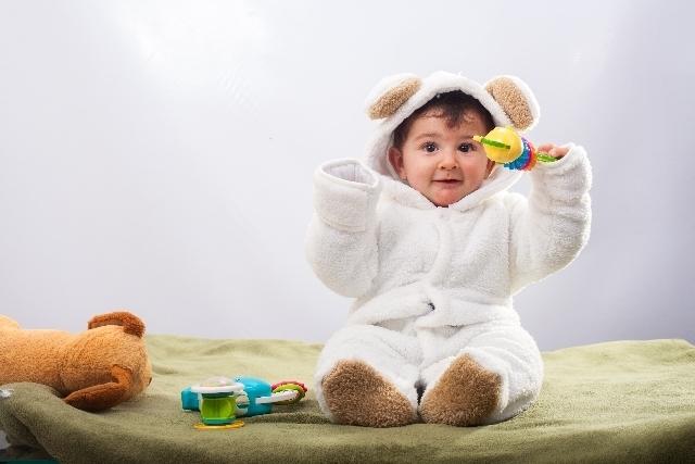 笑顔の赤ちゃん,生後,9ヶ月,体重