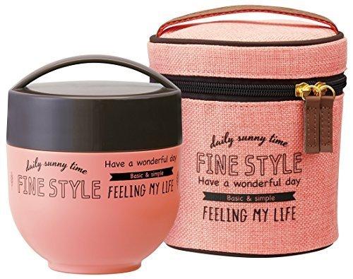 保温ランチジャー 540ml 丼 ファインスタイル ピンク 専用ケース付 KLDNC6,離乳食,持ち運び,