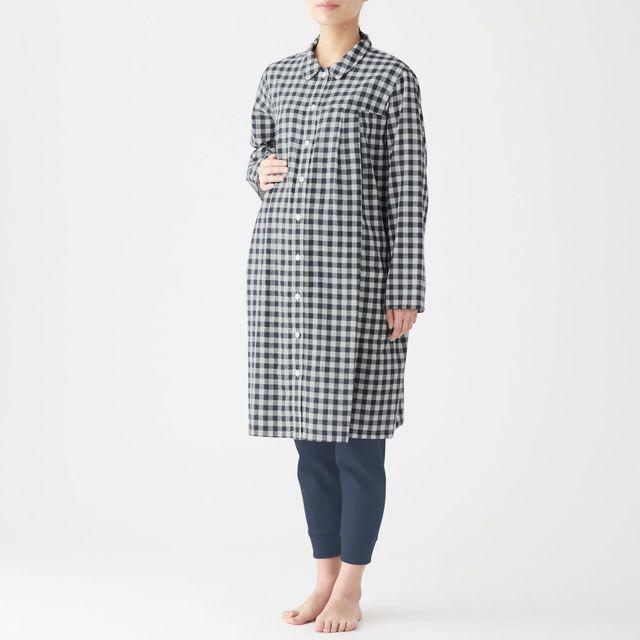 脇に縫い目のない二重ガーゼ授乳に便利な長袖パジャマ,出産,入院準備,リスト