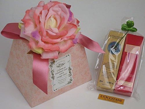 ギフト フラワーボックス ロクシタン ハンドクリーム 2本セット シア+ローズ 当店オリジナル!,出産祝い,ママ,