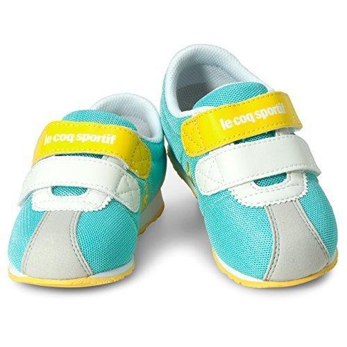 ルコック(le coq) キッズ モンペリエ III NY F(エメラルドグリーン/イエロー) QEN-7105GY GYL Eグリーン/イエロー 17.5cm,子ども,靴,