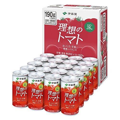 伊藤園 理想のトマト (缶) 190g×20本,離乳食,トマト,