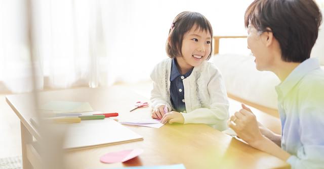話をする親子,自由研究,簡単,