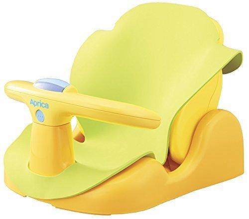 Aprica (アップリカ) バスチェア はじめてのお風呂から使えるバスチェア YE 91593 【パーツ取り外し可&やわらかマット付き】,沐浴,いつまで,