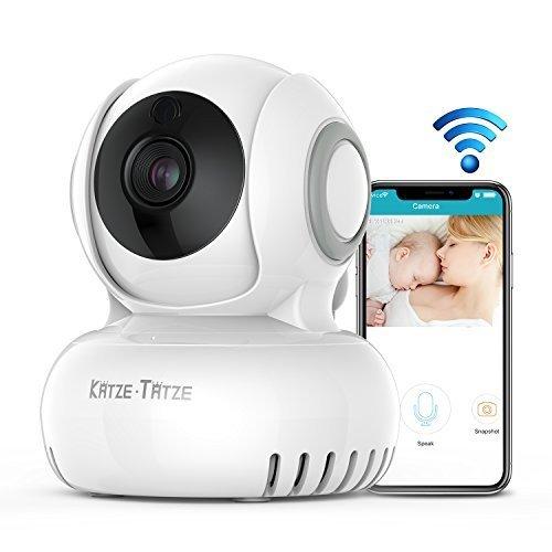 ベビーモニター ネットワークカメラ 防犯カメラ 遠隔操作 双方向音声通信 暗視機能付き 720P高画質 首振り式 介護 赤ちゃん 出産祝い 留守番 見守りカメラ iOS/Android 日本語説明書付き 一年間保証,ベビーモニター,
