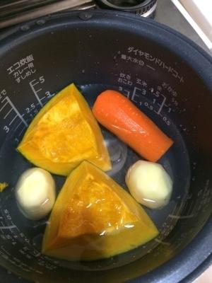 離乳食にも☆炊飯器でまとめて茹で野菜,離乳食,にんじん,