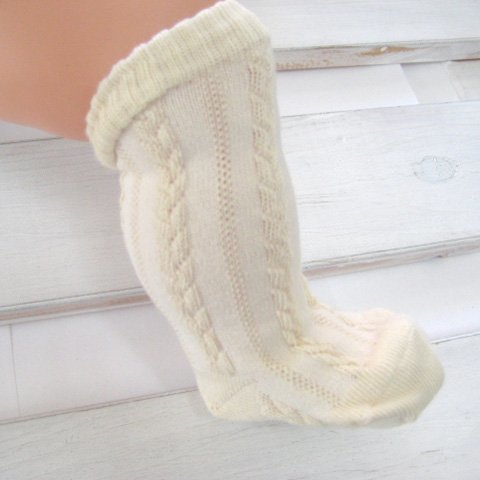 オーガニックコットン 新生児用ソックス 織り柄 ベビー靴下 35502,赤ちゃん,靴下,サイズ