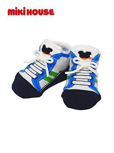 ミキハウス (MIKIHOUSE) ベビーソックス 40-9528-952 9 ブルー,赤ちゃん,靴下,サイズ