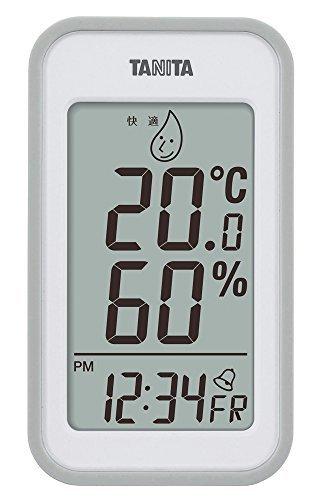 タニタ(Tanita) 温湿度計 デジタル グレー TT-559 GY 壁掛け 卓上 マグネット,暖房器具,おすすめ,