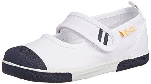 [キャロット] 上履き マジック 子供 靴 4大機能 足育 足に優しい ゆったり 抗菌防臭 CR ST13 ネイビー 20 cm 2E,保育園,入園準備,