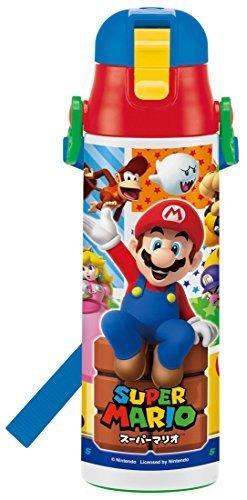 スケーター 子供用 直飲み 水筒 ステンレス カバーなし スーパーマリオ SDC6N,幼稚園,水筒,