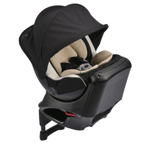 カーメイト エールベベ クルットNT2プラウド 新生児から4歳用チャイルドシート(サンシェード付360度回転型) ヘーゼルブラック,チャイルドシート,おすすめ,
