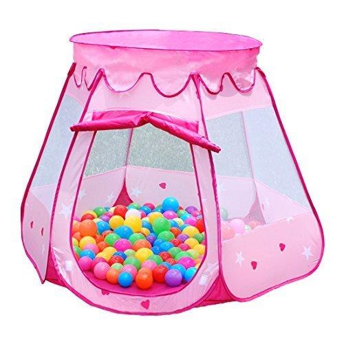 Dazers キッズテント ボールハウス 折りたたみ式 室内遊具 アウトドア おもちゃ (ピンク) ,1歳,おもちゃ,