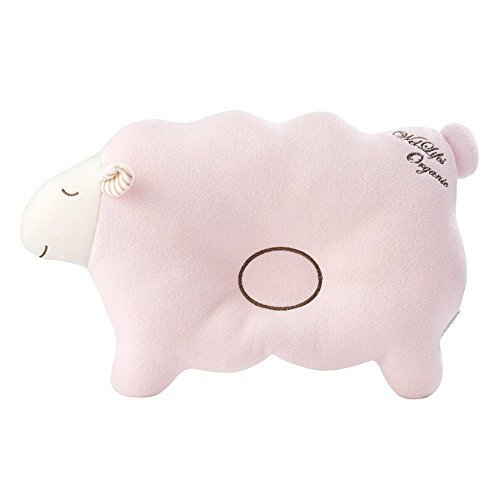 絶壁防止のためのオーガニックコットン赤ちゃん用ドーナツ枕、赤ちゃんの頭の形を守ります こひつじ ピンク [並行輸入品],赤ちゃん,枕,