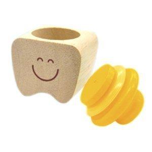 【木製】 乳歯のおうち イエロー,乳歯,保存,ケース