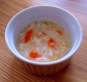 離乳食後期♪野菜と鮭とうどんのミルク煮☆,10ヶ月,離乳食,