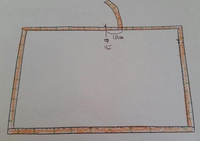 大きい布と小さい布の縫い方,授乳ケープ,手作り,作り方
