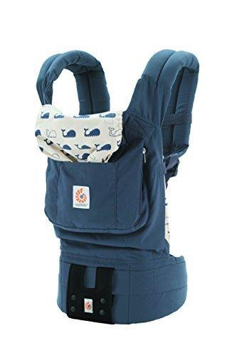 エルゴベビー(Ergobaby) 抱っこひも おんぶ可 [日本正規品保証付] (日本限定ベビーウエストベルト付) (洗濯機で洗える) 装着簡単 ベビーキャリア オリジナル/マリーン CREGBCMNF14NL,抱っこ紐,