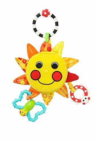 サッシー(Sassy) マイ・リトル・サンシャインミラー 赤ちゃんおもちゃ(0ヶ月から対象) 知育玩具 光る 鏡付き お鼻を押すとほっぺがピカピカ TYSA80379,チャイルドシート,おもちゃ,