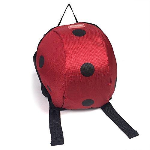 子供 リュック バッグ 迷子防止 ひも リード付き 幼児 飛び出し防止 ハーネス (赤 てんとう虫),ベビーリュック,