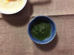 離乳食初期*小松菜とさつまいものトロトロ,小松菜,離乳食,