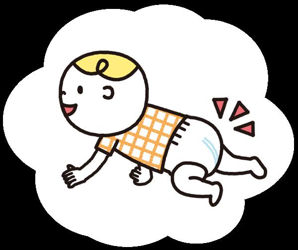 おむつをはいている赤ちゃんのイラスト,おむつ,