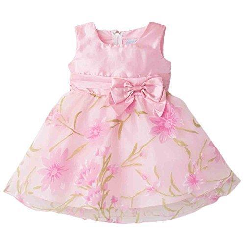 Catherine Cottage 結婚式 出産祝い お遊戯会 花柄 オーガンジー ドレス ベビー 女の子 CC0399 80cm ピンク,初節句,