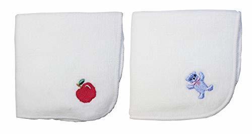 今治タオル×スマイリッシュ ミニタオルハンカチガールズ2枚セット・名入れスペース付(りんご&くま),小学校,入学祝い,プレゼント