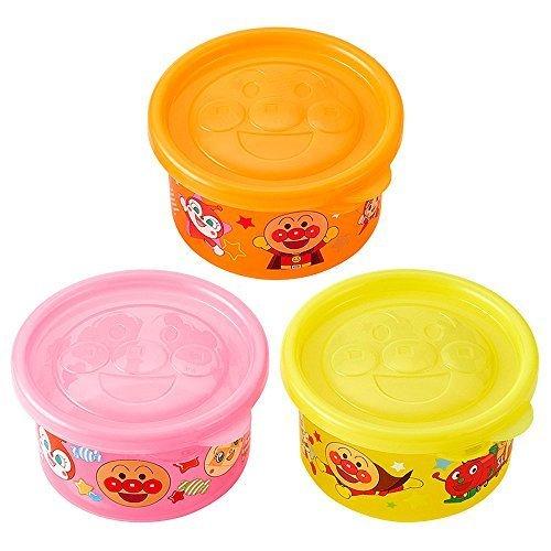 レック アンパンマン ライトコンテナ 丸型 小 (3個入),離乳食,冷凍,容器