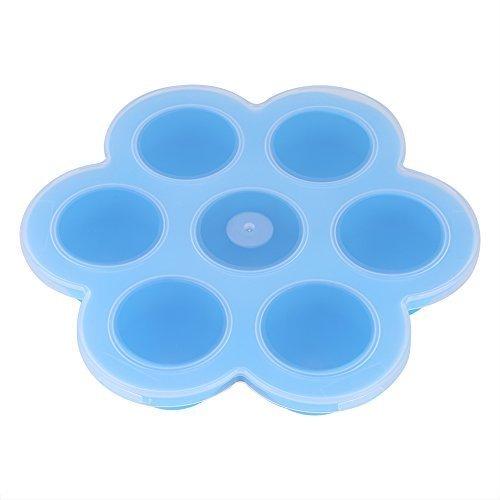 シリコーン保存容器 ,Haofy ベビーフード貯蔵容器冷凍庫トレイシリコン蓋付きBPAフリー ベビーフード 野菜 果物FDA認証(ブルー),離乳食,冷凍,容器