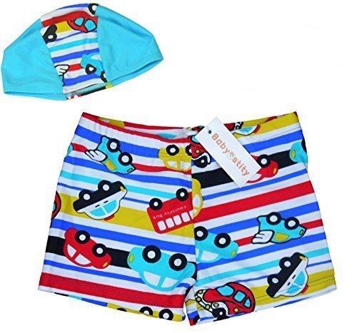 【Babystity】 子供 ベビー 男の子 水着 帽子 2点セット (80cm-100cm) KR-SWI000,赤ちゃん,水着,