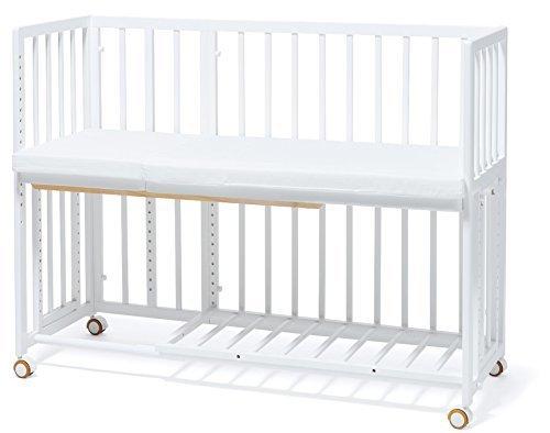 大和屋 そいねーる プラス ロング ベビーベッド ホワイトWH 安全に添い寝ができる、ママと繋がるキャスター付ベビーベッド,ベビーベッド,おすすめ,