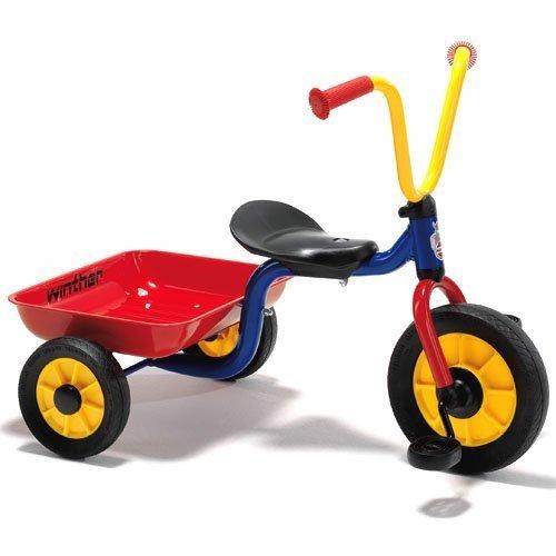 BorneLund(ボーネルンド) Winther ウィンザー社 ペリカンデザイン三輪車 Vハンドル カラー(荷台つき)【WI44447】,三輪車,人気,