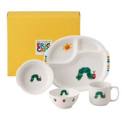ニッコー 子供食器 はらぺこあおむし もぐもぐセット(ランチ皿、ライスボール、マグ、小鉢) 8010-KS04,離乳食食器,