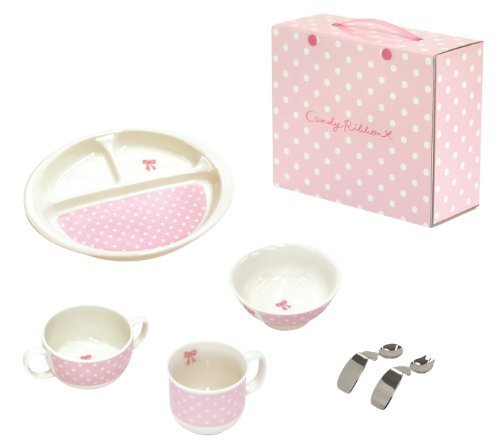 キャンディリボン Candy ribbon はじめての食器6点セット 511905 日本製,離乳食食器,
