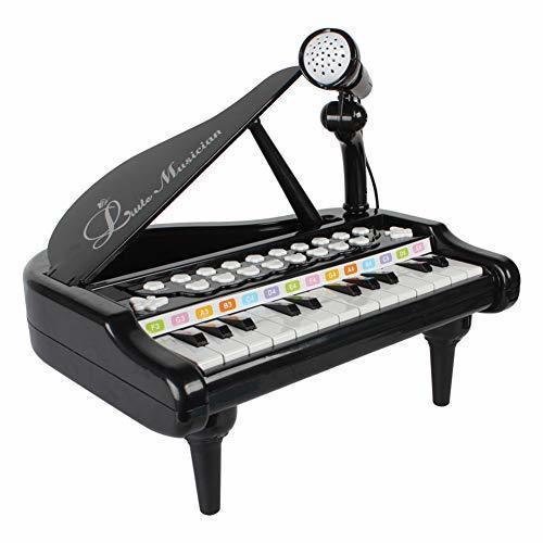 RASTAR キッズ 可愛いピアノおもちゃ 電子ミニピアノ 音楽おもちゃ キズキーボード 電子ミニキーボード 多機能音楽玩具 子供ピアノ 赤ちゃんピアノ オモチャのピアノ 知育玩具 誕生日 子供の日 (ブラック),おもちゃ,ピアノ,