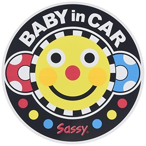 Sassy ベビーインカーステッカー スマイリーフェイス 【車用】NZSA100701,ベビーインカー,