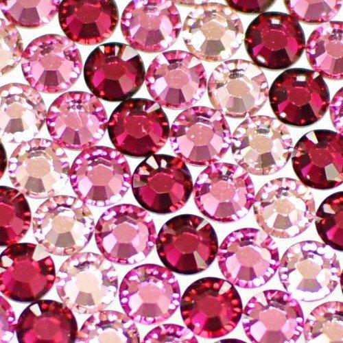 スワロフスキー ラインストーン お試しグラデーションカラーセット!【ピンクセット】ネイル デコに便利な3色ミックスss20(計計30粒)「ライトローズ」「ローズ」「ルビー」各10粒,スマホケース,手作り,