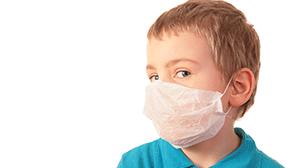 マスクをしている男の子,空気感染,潜伏期間,症状
