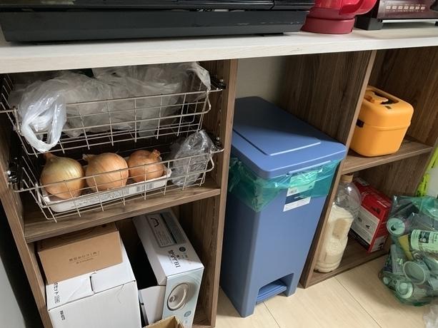 ニトリのカラーボックス,ニトリ,収納,キッチン