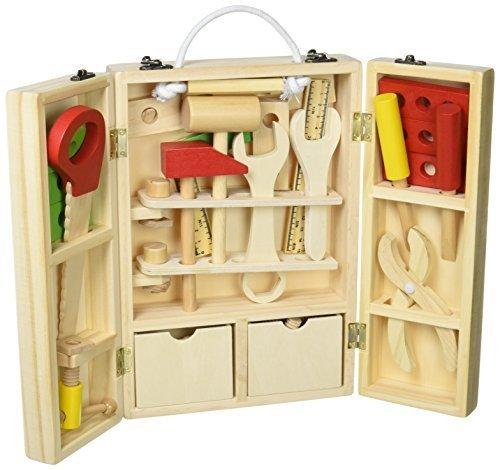 収納できる 木製ツールボックス トントン 大工さんセット 【知育玩具】,ごっこ遊び,おもちゃ,おすすめ