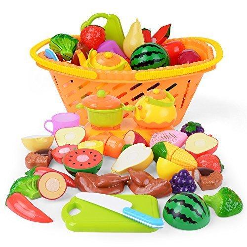 NextX おままごと おもちゃ 収納バスケット付き サクッと切る 野菜 果物 イチゴ ごっこ遊び 女の子 男の子,ごっこ遊び,おもちゃ,おすすめ