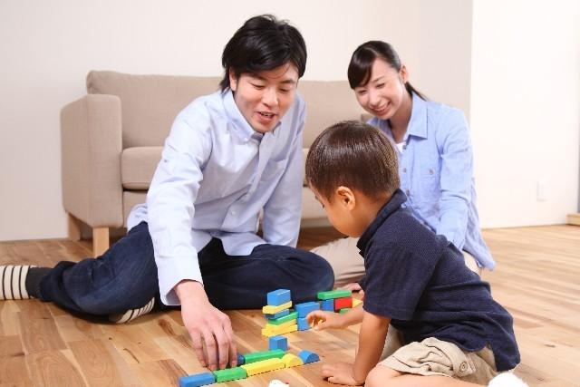 家族での遊び,3歳,男の子,おもちゃ